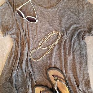 Shimmery gray top